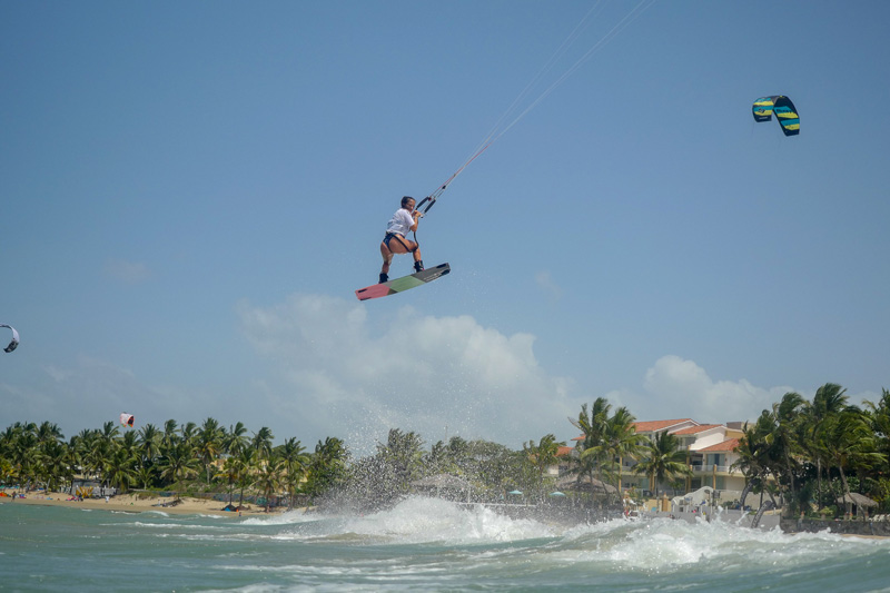 Rita Arnaus kiteboarding at GKA Air Games Cabarete