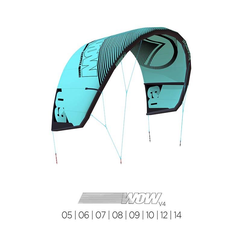 Liquid Force Wow V4 kite sizes