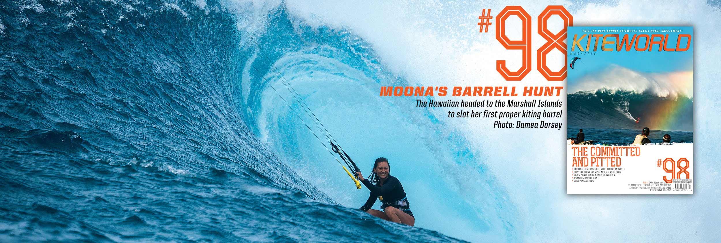 KW#98 Moona Whyte kitesurfing barrels in the Marshall Islands