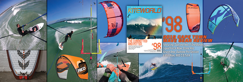 KW#98 Wave kite and board tests