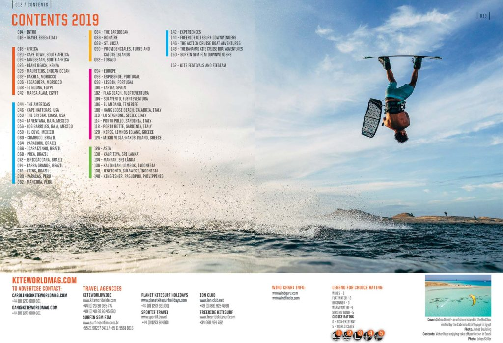 Kiteworld Travel Guide 2019 Contents