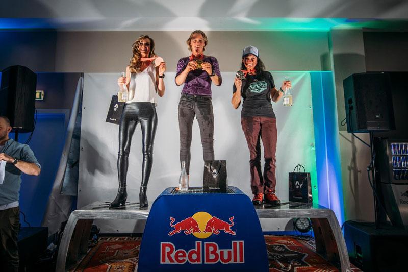 Red Bull Ragnarok 2019 women's ski podium