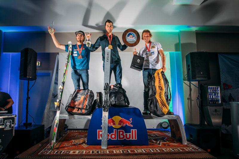 Red Bull Ragnarok mens ski podium 2019