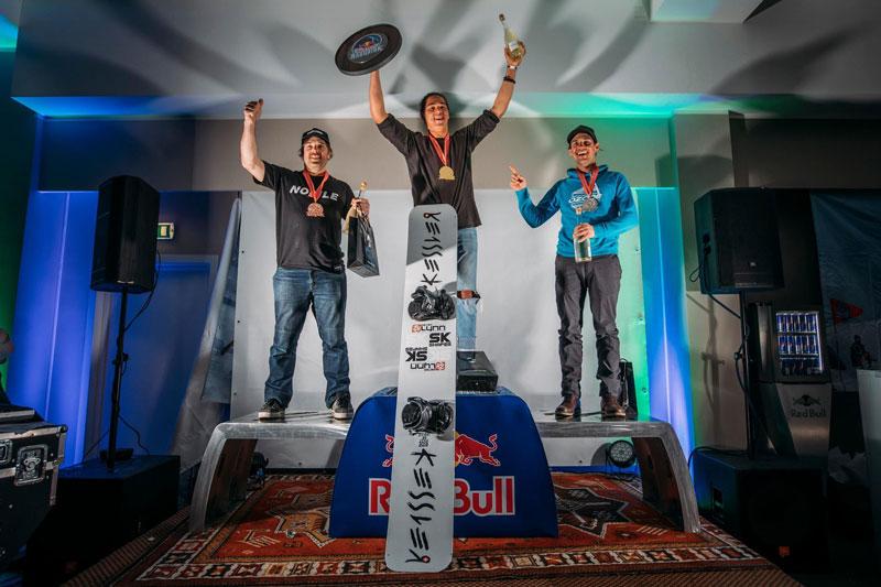 Red Bull Ragnarok mens snowboard podium 2019