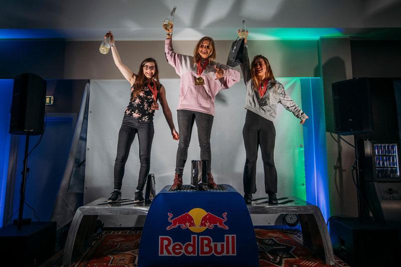 Red Bull Ragnarok women's snowboard podium 2019