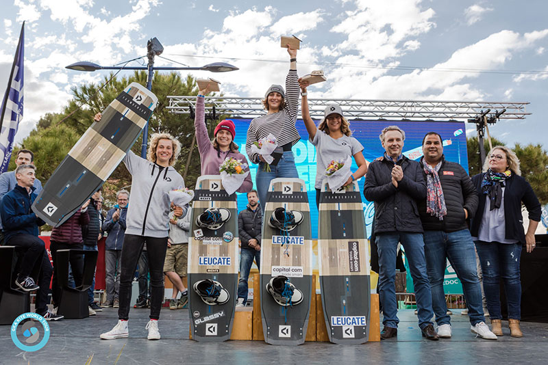 women's podium GKA Freestyle World Cup Leucate 2019