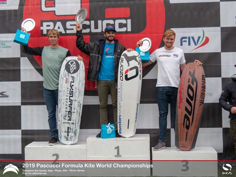 Formula Kite Worlds mens podium