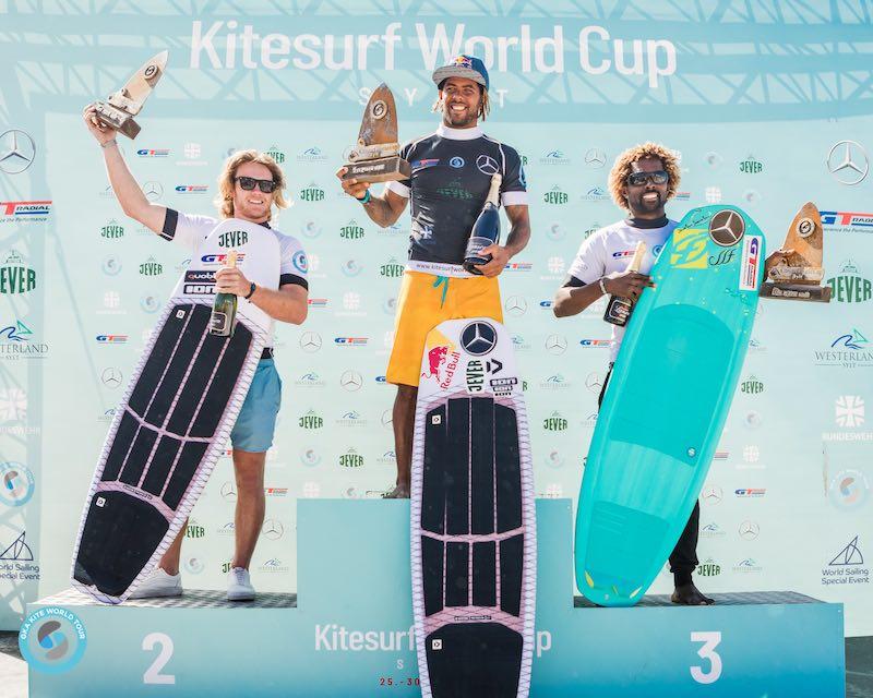 GKA Kite-Surf World Cup Sylt men's podium