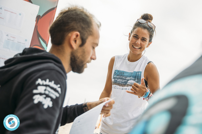 GKA Kite World Tour Tarifa Charlotte Carpentier