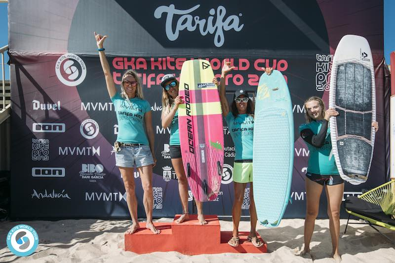 GKA Kite World Tour Tarifa women's podium