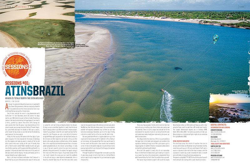 Kiteboarding in Atins in Brazil  - Kiteworld feature