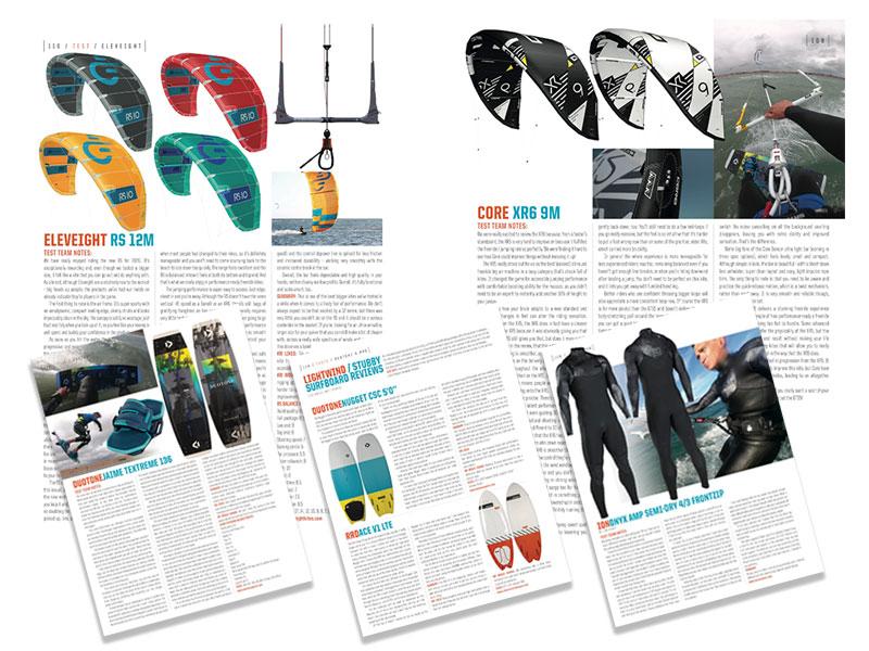 Kitesurfing tests Kiteworld issue 100