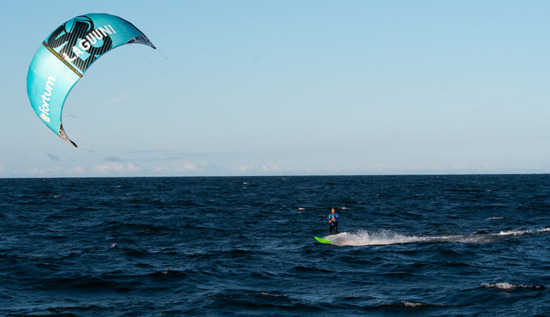 Kitesurfing world record in Baltic Sea