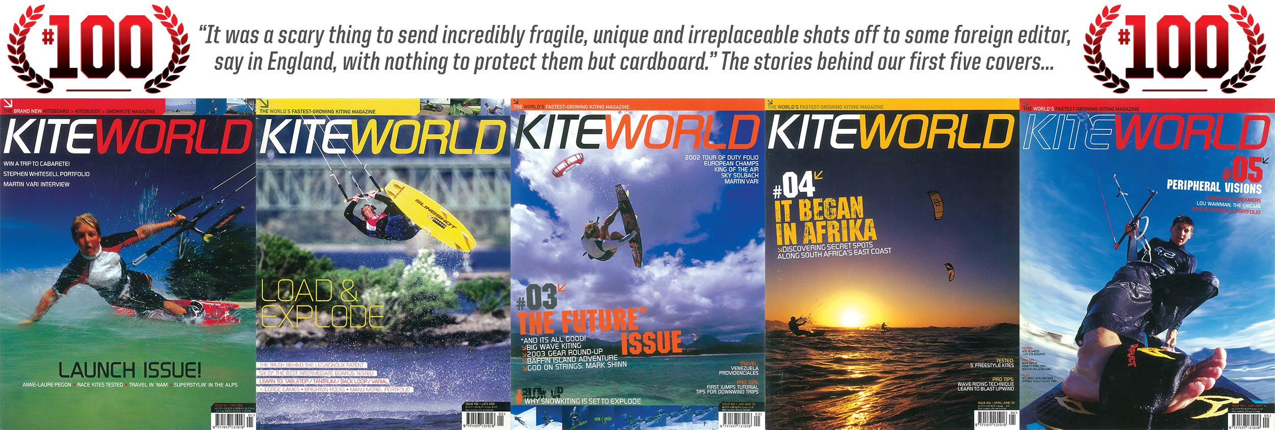 Kiteworld issue 100 first five covers
