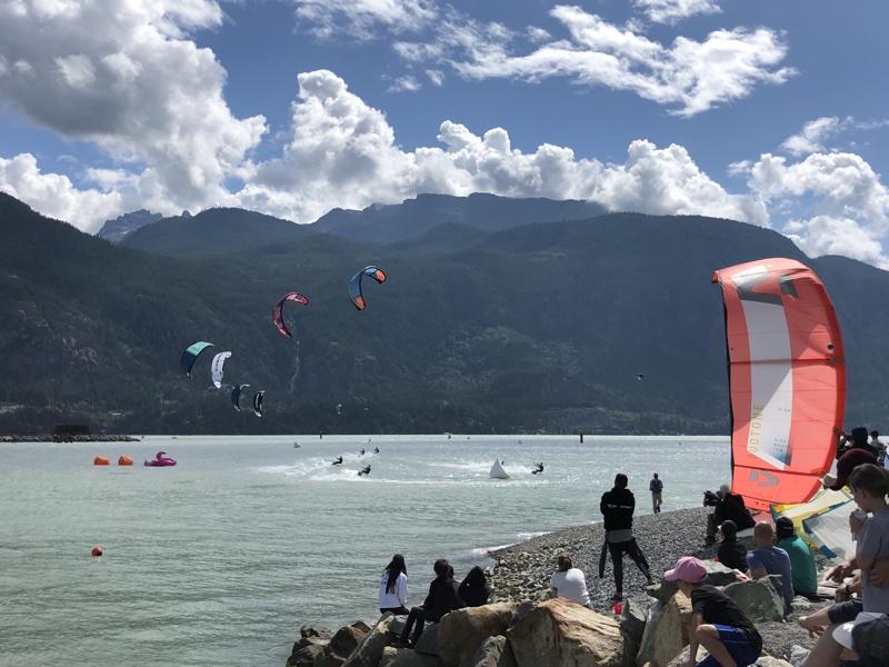 Kite cross race