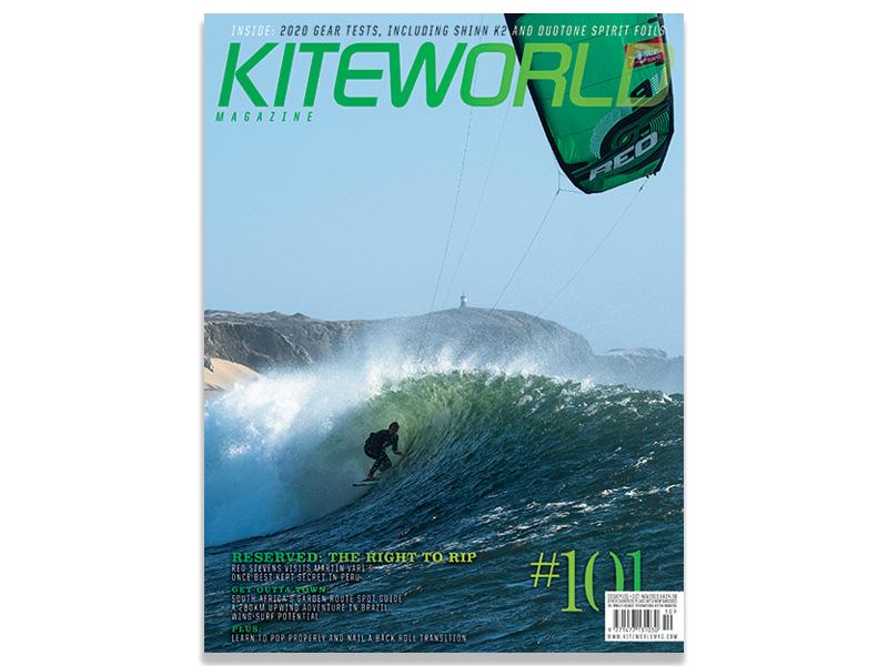 Kiteworld issue 101 - Reo Stevens cover shot Peru