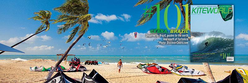 Kiteworld issue 101 - guide to kiteboarding in Brazil