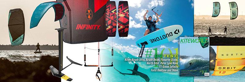 Kiteworld issue 101 - kiteboarding 2020 tests
