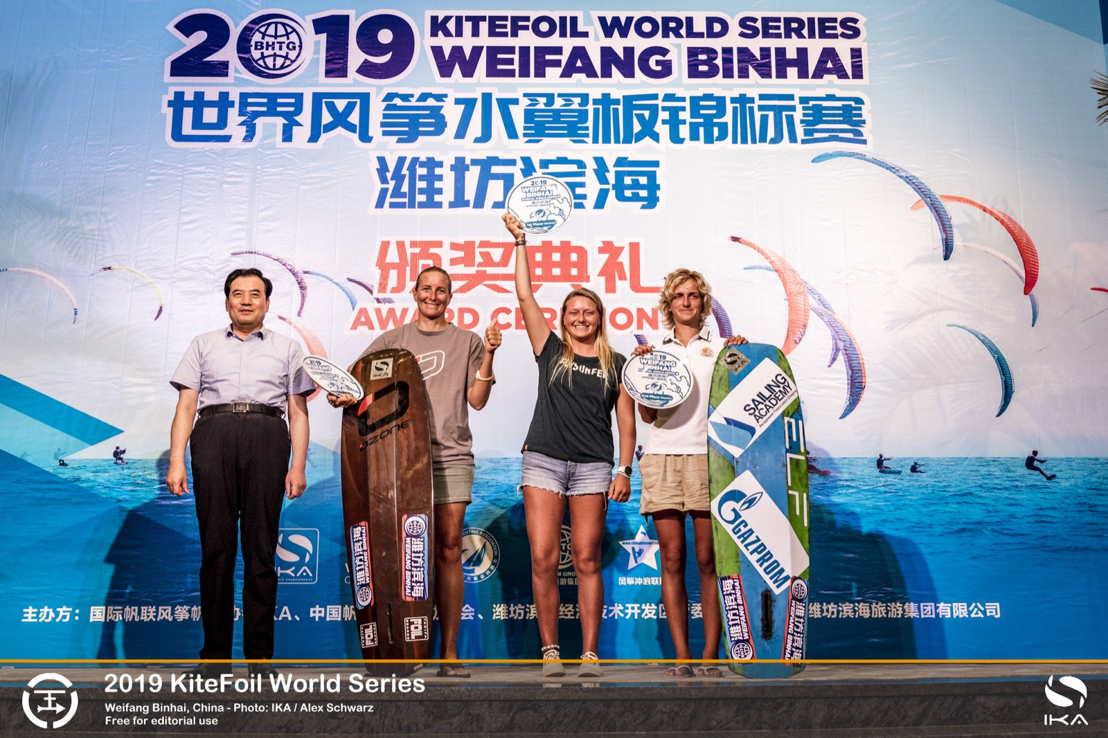 IKA Kitefoil World Series womens podium