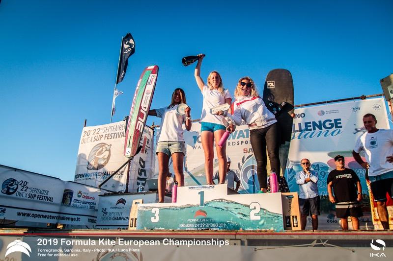 Women's Podium 2019 Formula Kite Europeans