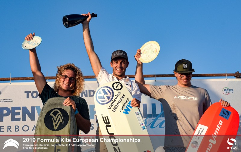 Men's Podium 2019 Formula Kite Europeans