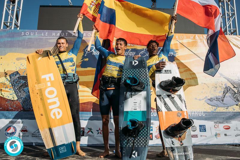 Men's podium GKA Kite World Cup Dakhla