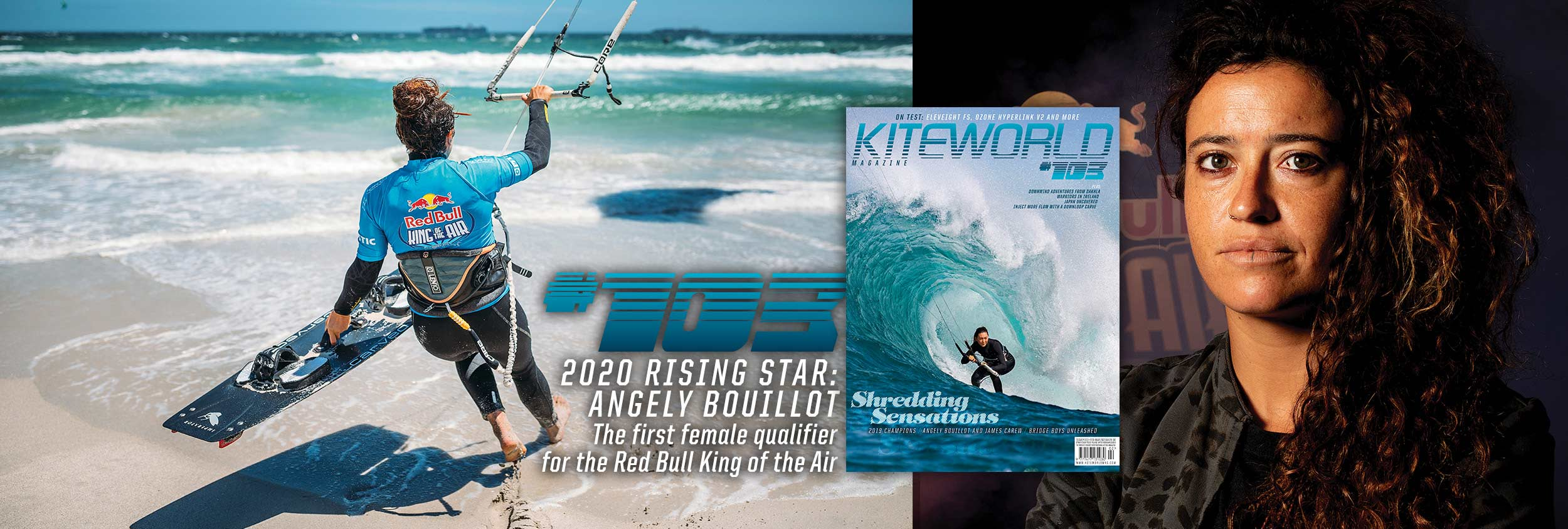 Angely Bouillot King of the Air female kitesurfer