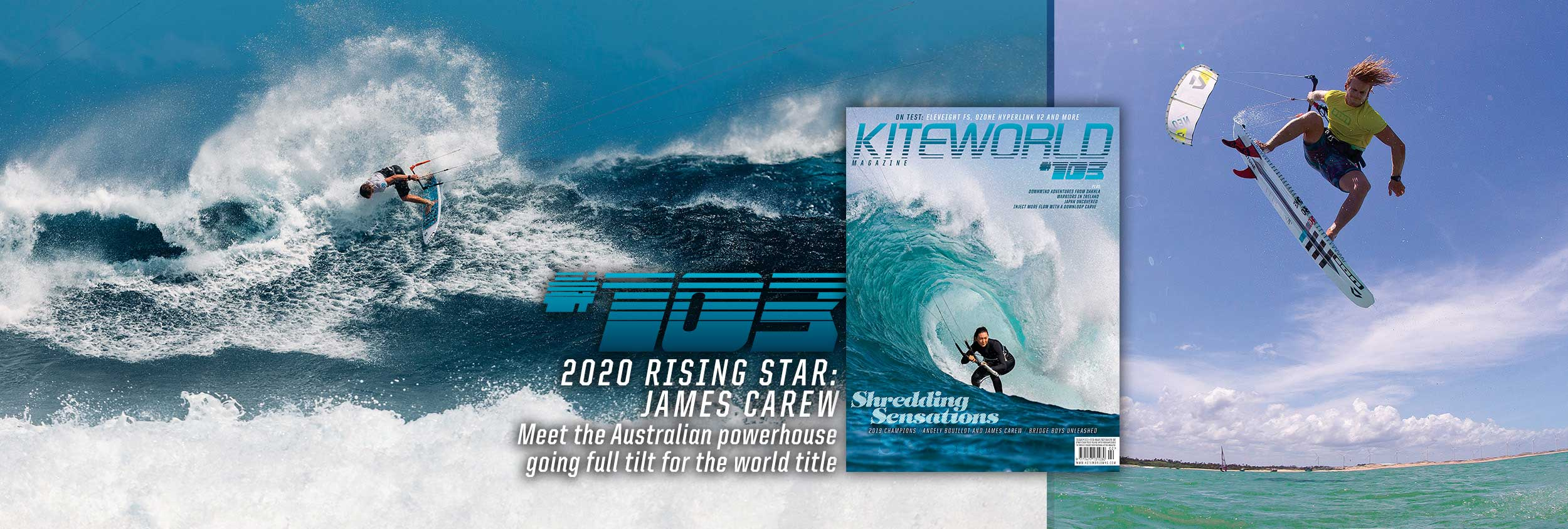 James Carew kitesurfer