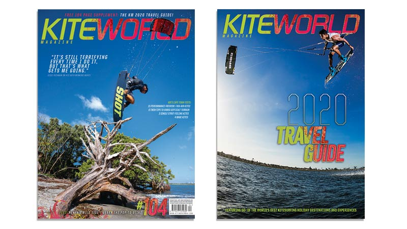 Kiteworld Magazine issue 104 and Travel Guide 2020