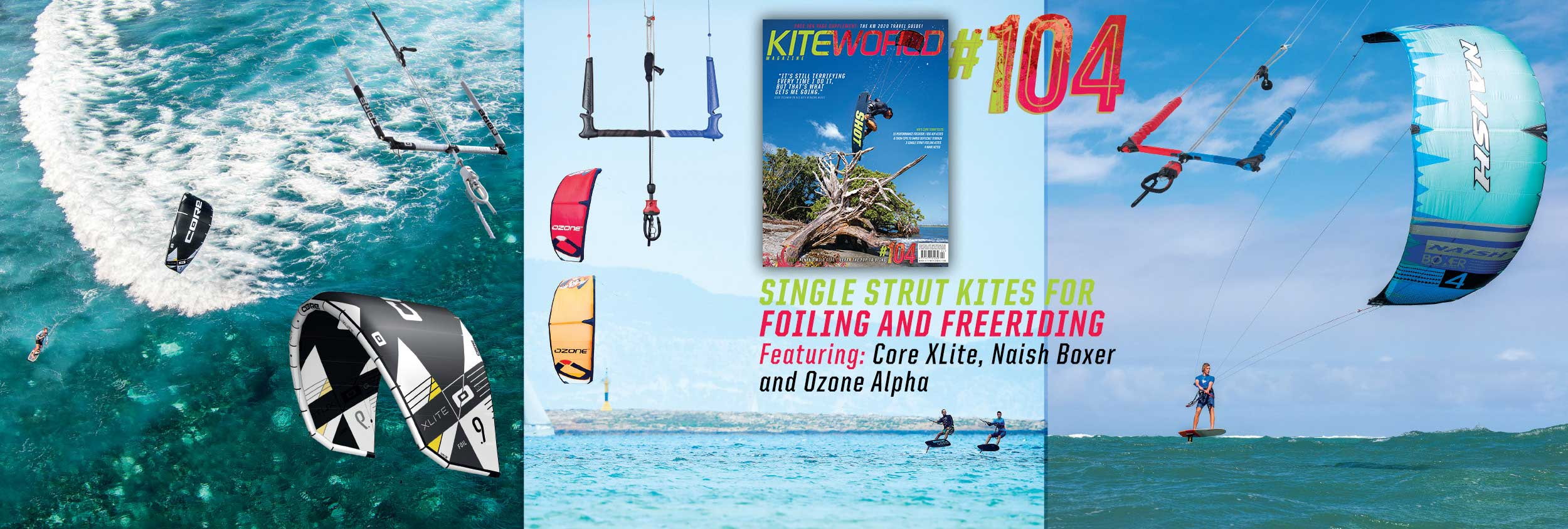 Single Strut kite tests 2020