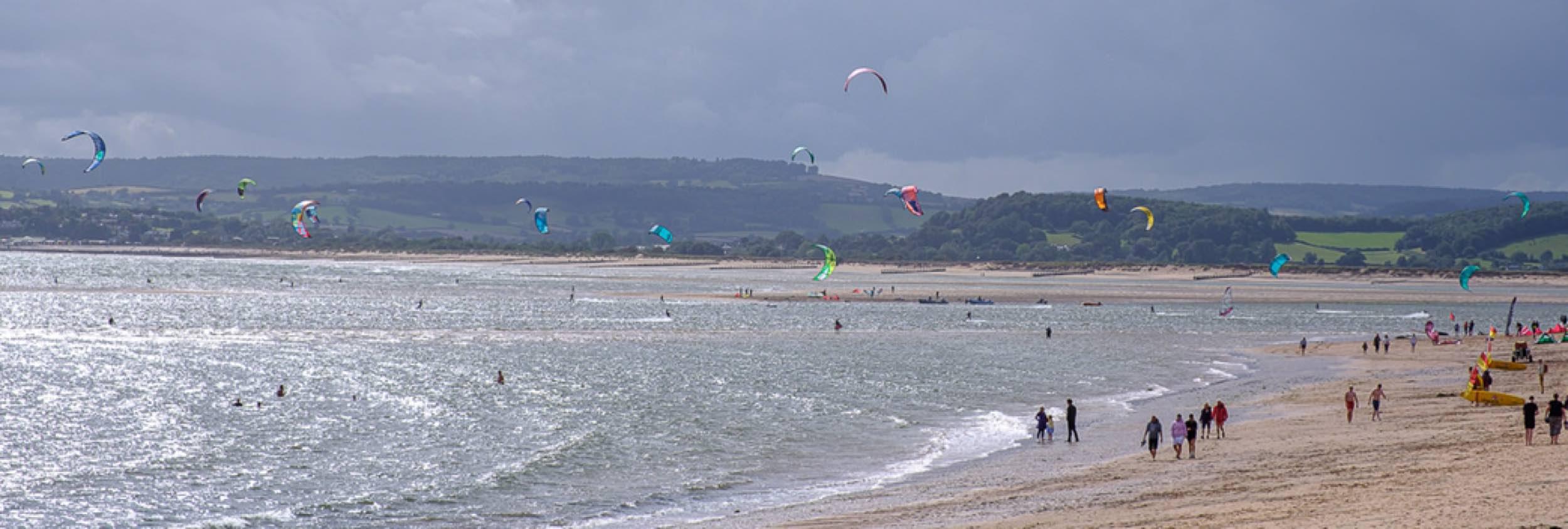 Kitesurfing in Exmouth, UK