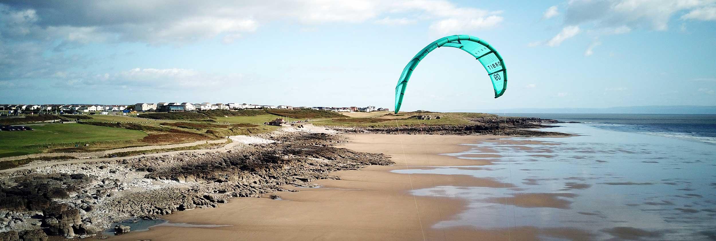 Rest Bay Kitesurfing spot in South Wales