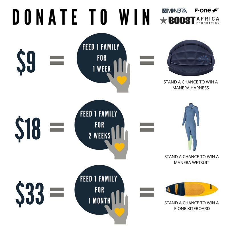 Donate to win F-One and Manera gear