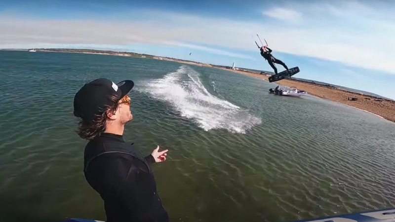 Epic kite session in Isle of Wight