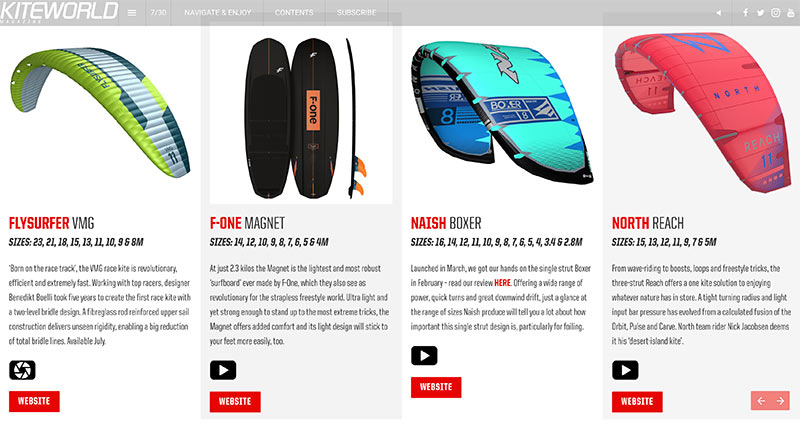 New kitesurfing products