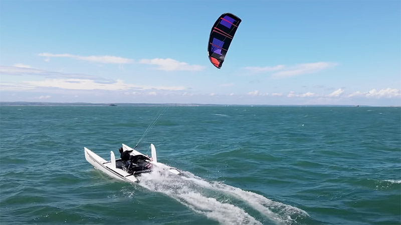 Sam Light kiteboat project videos