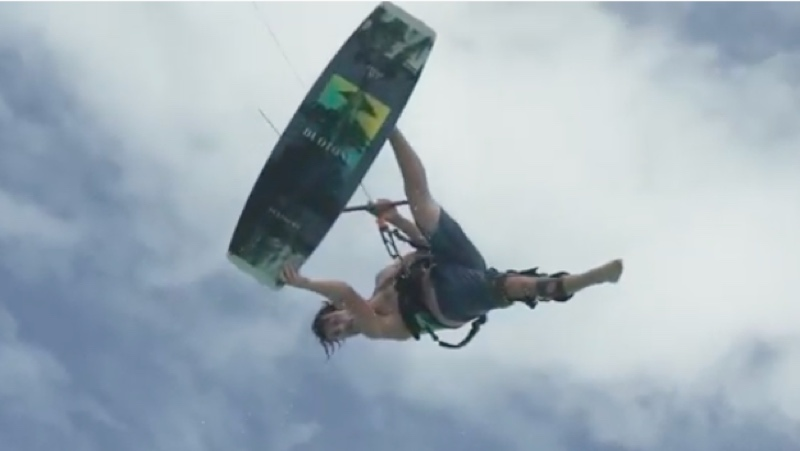 One footer kite trick