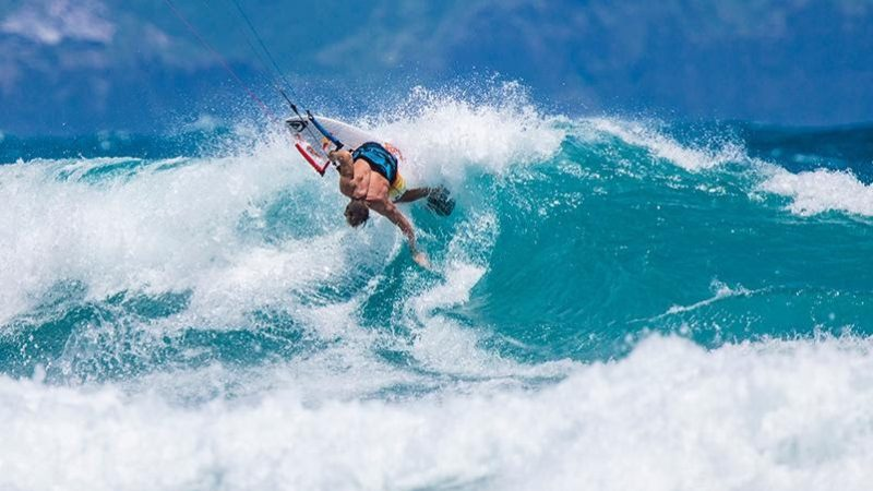 Robby Naish in action