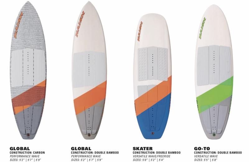 4 Naish surfboards