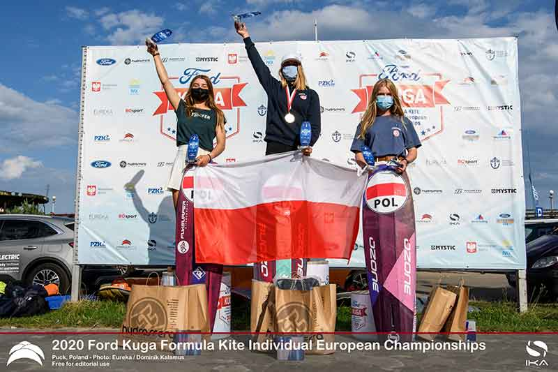 Ford Kuga Formula Kite Europeans Top 3 Women (U19)
