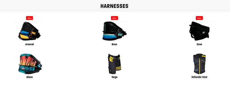 Naish S25 Harnesses