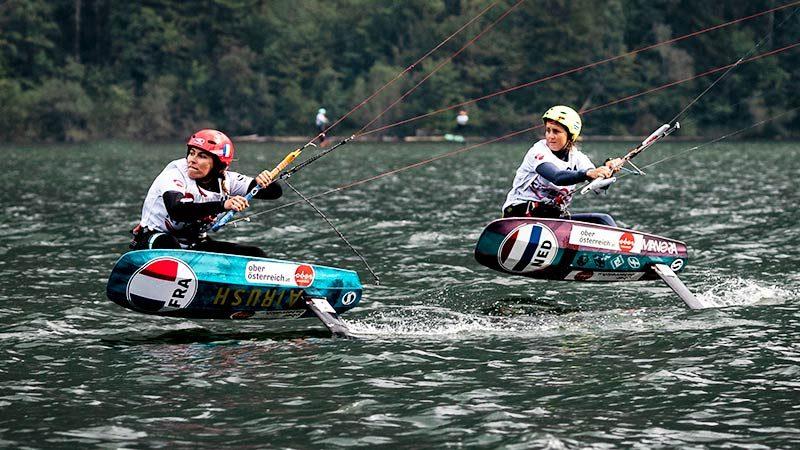 Olympic mixed relay kite racing
