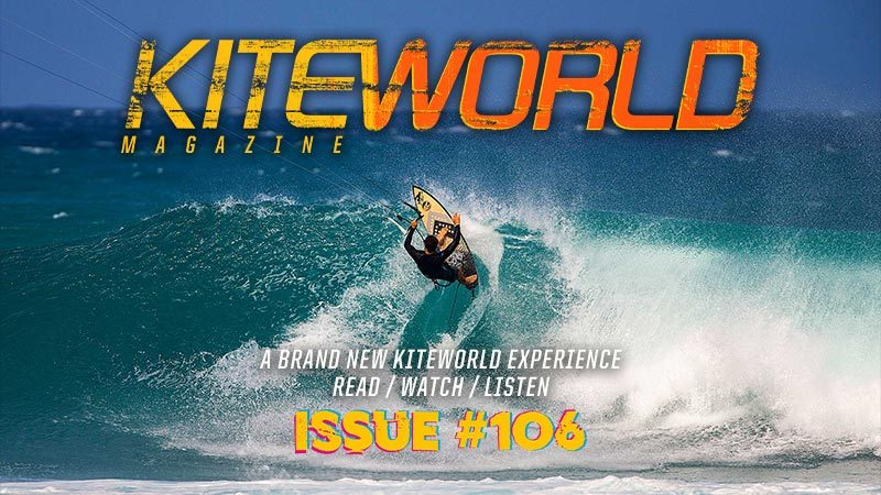 Kiteworld Magazine issue 106 with Keahi de Aboitiz