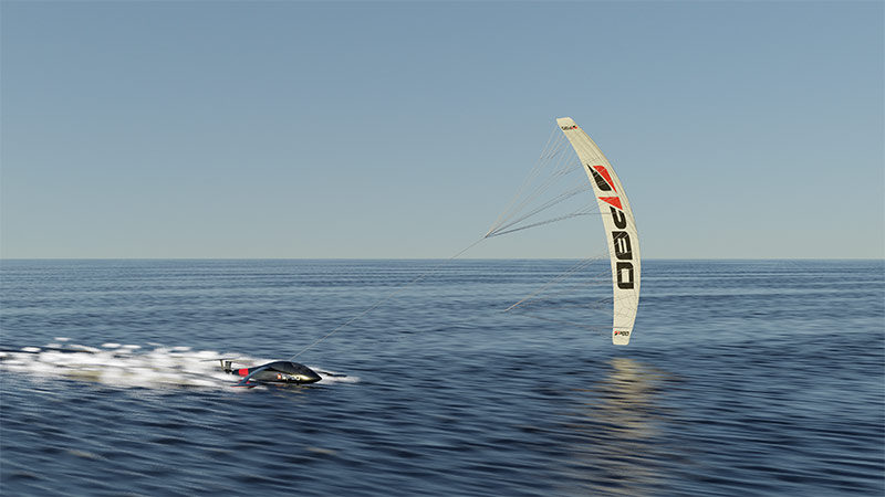 Kitesurf speed record challenger