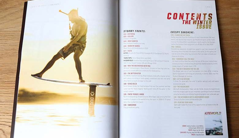 Contents in Kiteworld Magazine