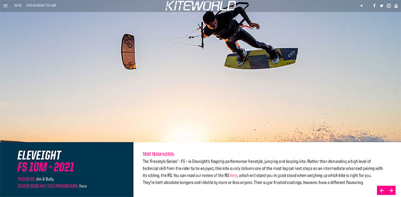 Eleveight FS 2021 9m kite review