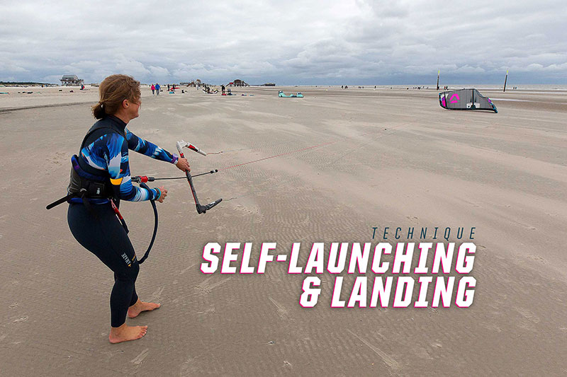How to self-launch and self-land a kitesurfing kite