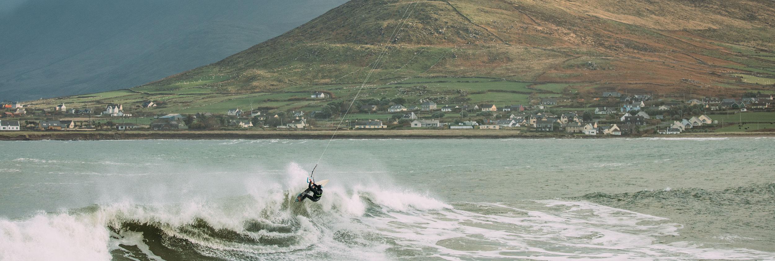 Wave Kitesurfing in Ireland