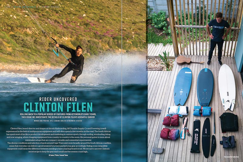 Clinton Filen in Kiteworld summer issue 2021