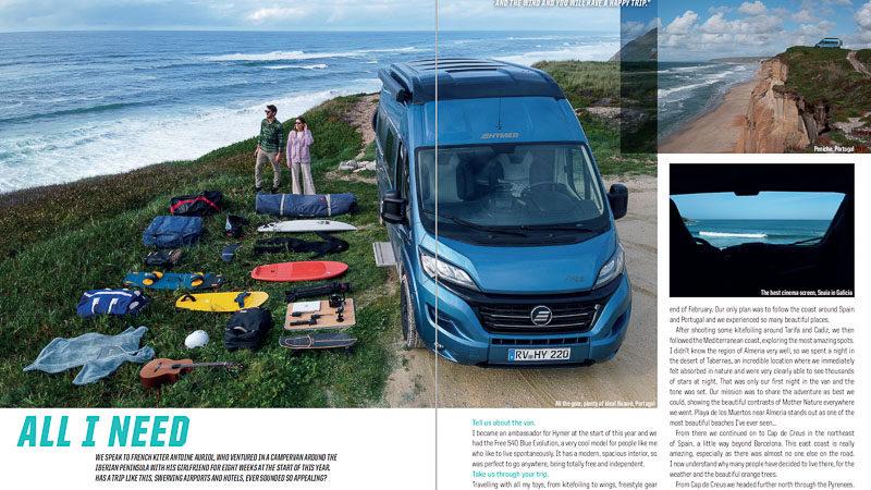 Van life for kitesurfing